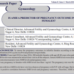 IS AMH A PREDICTOR OF PREGNANCY OUTCOME IN INFERTILE  FEMALES?