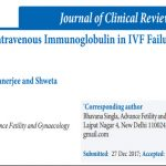 Role of Low Dose Intravenous Immunoglobulin in IVF Failure – A Retrospective Analysis