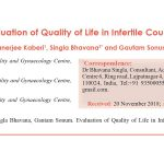 Evaluation of Quality of Life in Infertile Couples